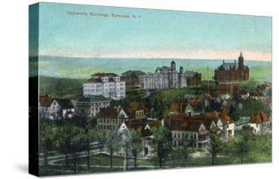 Syracuse, New York - Panoramic View of the University and Grounds-Lantern Press-Stretched Canvas Print