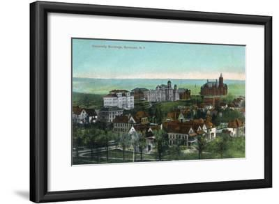 Syracuse, New York - Panoramic View of the University and Grounds-Lantern Press-Framed Art Print