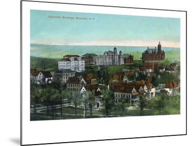 Syracuse, New York - Panoramic View of the University and Grounds-Lantern Press-Mounted Art Print