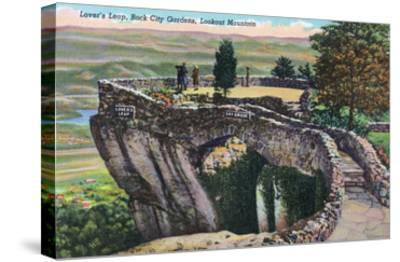 Lookout Mountain, Tennessee - Rock City Gardens, View of Lover's Leap-Lantern Press-Stretched Canvas Print