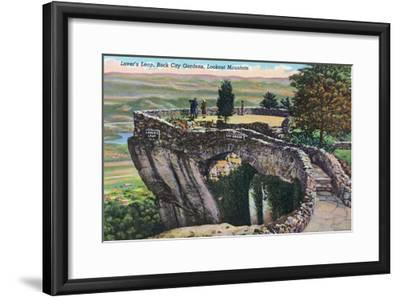 Lookout Mountain, Tennessee - Rock City Gardens, View of Lover's Leap-Lantern Press-Framed Art Print
