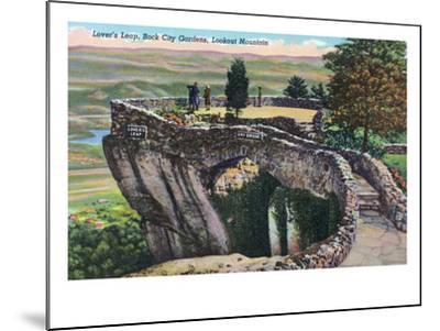 Lookout Mountain, Tennessee - Rock City Gardens, View of Lover's Leap-Lantern Press-Mounted Art Print