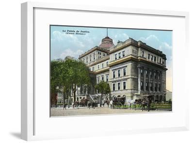 Montreal, Quebec - Court House Exterior-Lantern Press-Framed Art Print