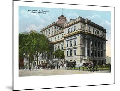 Montreal, Quebec - Court House Exterior-Lantern Press-Mounted Art Print