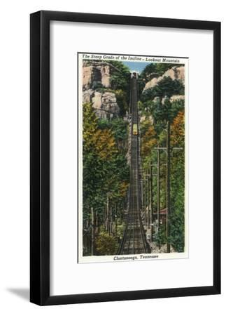 Chattanooga, Tennessee - General View of the Lookout Mountain Incline-Lantern Press-Framed Art Print