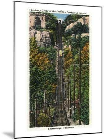 Chattanooga, Tennessee - General View of the Lookout Mountain Incline-Lantern Press-Mounted Art Print