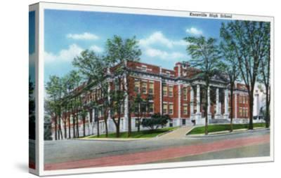 Knoxville, Tennessee - Exterior View of Knoxville High School-Lantern Press-Stretched Canvas Print