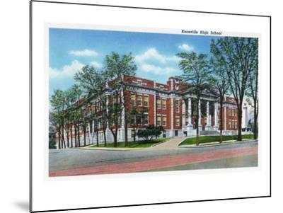 Knoxville, Tennessee - Exterior View of Knoxville High School-Lantern Press-Mounted Art Print