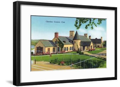 Knoxville, Tennessee - Exterior View of the Cherokee Country Club-Lantern Press-Framed Art Print