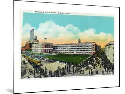 Detroit, Michigan - Highland Park Plant Exterior-Lantern Press-Mounted Art Print