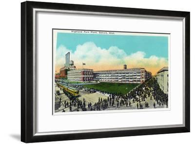 Detroit, Michigan - Highland Park Plant Exterior-Lantern Press-Framed Art Print