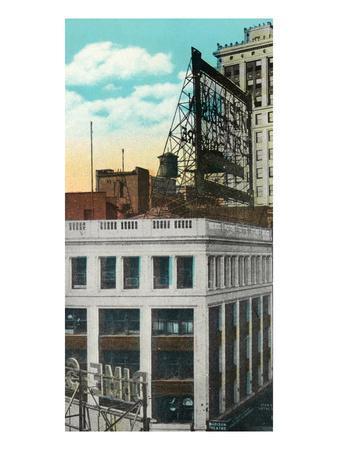 Detroit, Michigan - Madison Theatre Exterior-Lantern Press-Framed Art Print