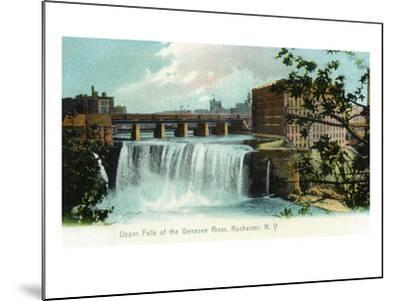 Rochester, New York - Upper Falls of the Genesee River-Lantern Press-Mounted Art Print