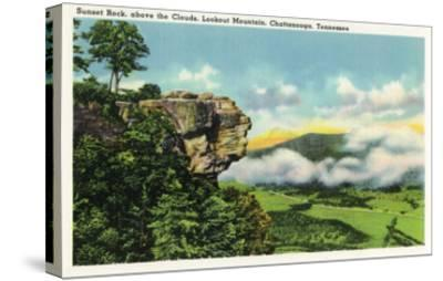 Lookout Mountain, Tennessee - Scenic View from Sunset Rock on the Mountain-Lantern Press-Stretched Canvas Print