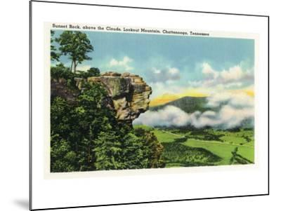 Lookout Mountain, Tennessee - Scenic View from Sunset Rock on the Mountain-Lantern Press-Mounted Art Print