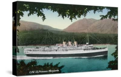 View of Canadian Pacific Railway Liner SS Princess Marguerite-Lantern Press-Stretched Canvas Print