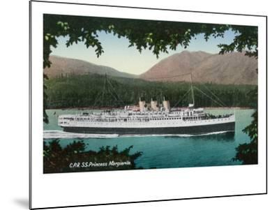 View of Canadian Pacific Railway Liner SS Princess Marguerite-Lantern Press-Mounted Art Print