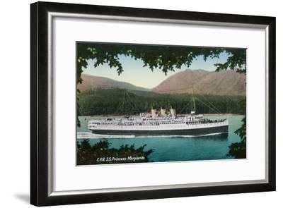 View of Canadian Pacific Railway Liner SS Princess Marguerite-Lantern Press-Framed Art Print