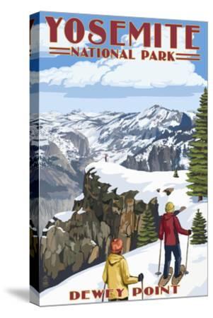 Dewey Point - Yosemite National Park, California-Lantern Press-Stretched Canvas Print