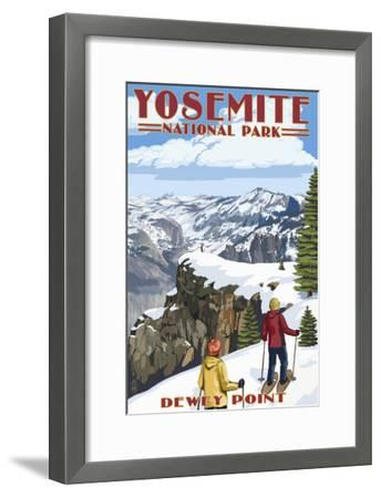 Dewey Point - Yosemite National Park, California-Lantern Press-Framed Art Print