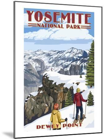 Dewey Point - Yosemite National Park, California-Lantern Press-Mounted Art Print