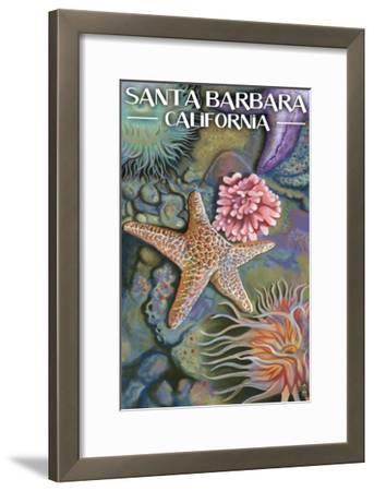 Santa Barbara, California - Tidepools-Lantern Press-Framed Art Print