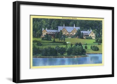 Allegany State Park, New York - Exterior View of the Administration Building-Lantern Press-Framed Art Print