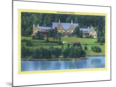 Allegany State Park, New York - Exterior View of the Administration Building-Lantern Press-Mounted Art Print
