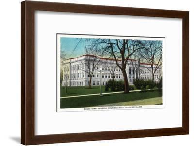 Springfield, Missouri - Southwest State Teacher's College Educational Bldg-Lantern Press-Framed Art Print