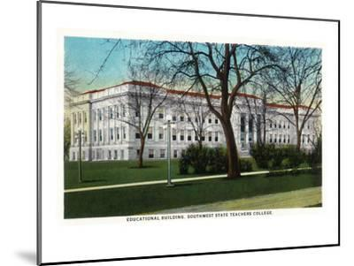Springfield, Missouri - Southwest State Teacher's College Educational Bldg-Lantern Press-Mounted Art Print