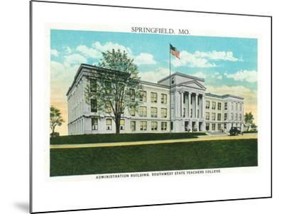Springfield, Missouri - Southwest State Teacher's College Admin Bldg-Lantern Press-Mounted Art Print
