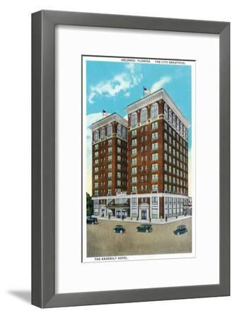 Orlando, Florida - Crowded Lake Eola and Park Scene-Lantern Press-Framed Art Print
