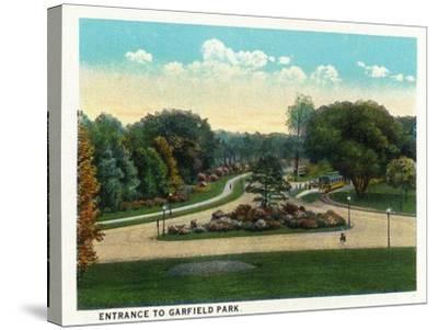 Cleveland, Ohio - Garfield Park Entrance-Lantern Press-Stretched Canvas Print