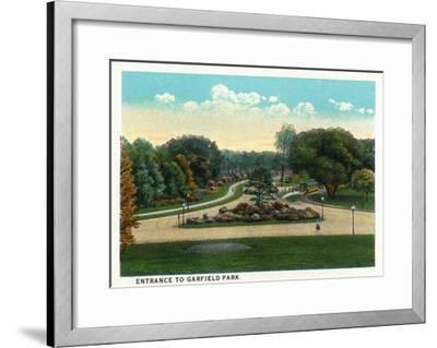 Cleveland, Ohio - Garfield Park Entrance-Lantern Press-Framed Art Print