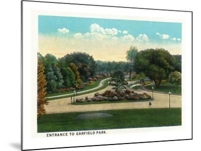 Cleveland, Ohio - Garfield Park Entrance-Lantern Press-Mounted Art Print