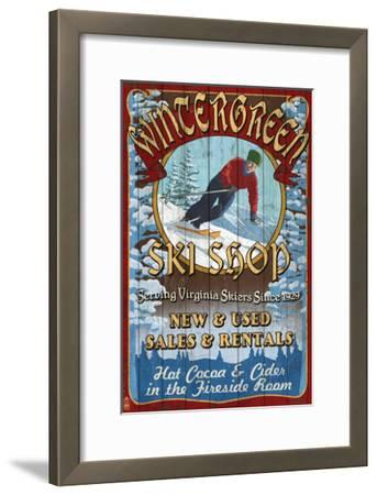 Wintergreen, Virginia - Ski Shop-Lantern Press-Framed Art Print