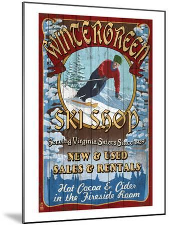 Wintergreen, Virginia - Ski Shop-Lantern Press-Mounted Art Print