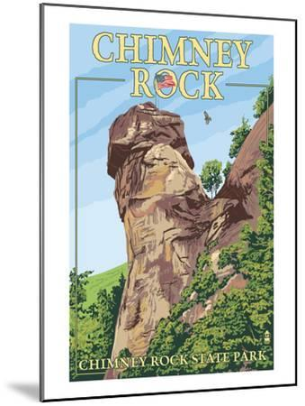 Chimney Rock State Park, North Carolina-Lantern Press-Mounted Art Print