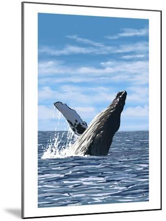 Humpback Whale - Ocean-Lantern Press-Mounted Art Print