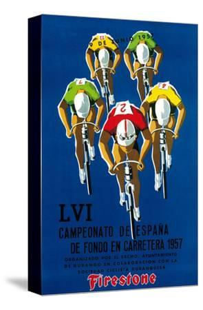 Bicycle Race Promotion-Lantern Press-Stretched Canvas Print