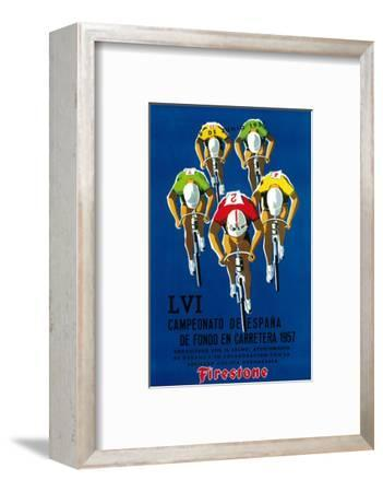 Bicycle Race Promotion-Lantern Press-Framed Premium Giclee Print