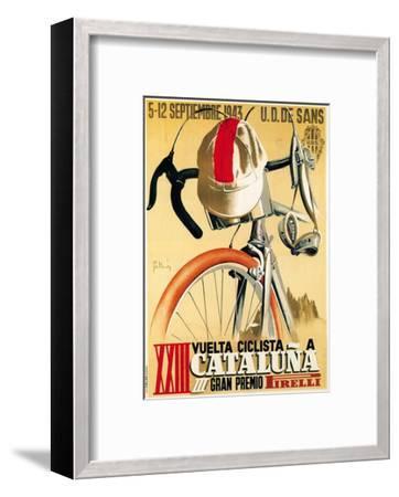 Bicycle Racing Promotion-Lantern Press-Framed Premium Giclee Print