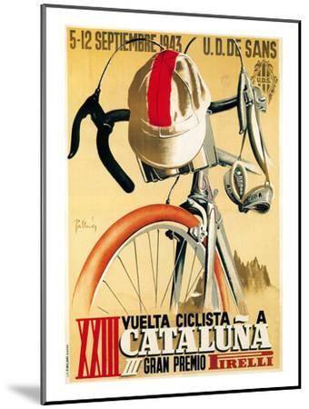 Bicycle Racing Promotion-Lantern Press-Mounted Premium Giclee Print