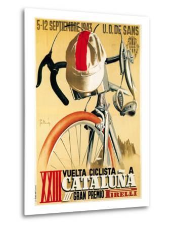 Bicycle Racing Promotion-Lantern Press-Metal Print