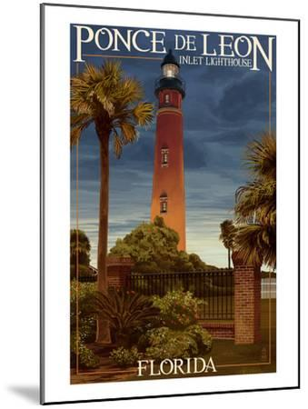 Ponce De Leon Inlet Lighthouse, Florida - Dusk Scene-Lantern Press-Mounted Art Print
