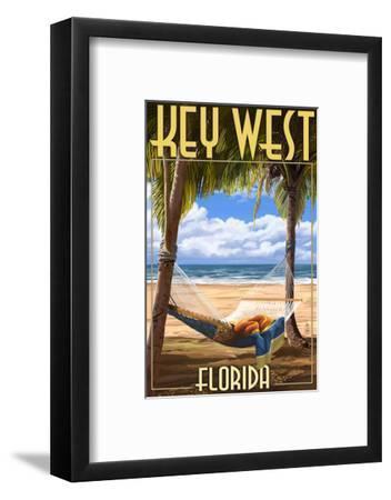 Key West, Florida - Hammock Scene-Lantern Press-Framed Art Print