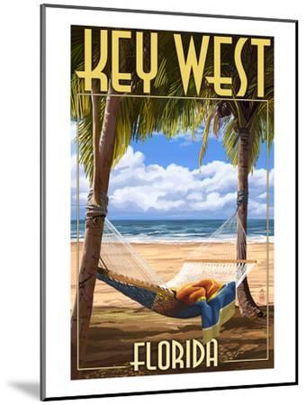 Key West, Florida - Hammock Scene-Lantern Press-Mounted Art Print