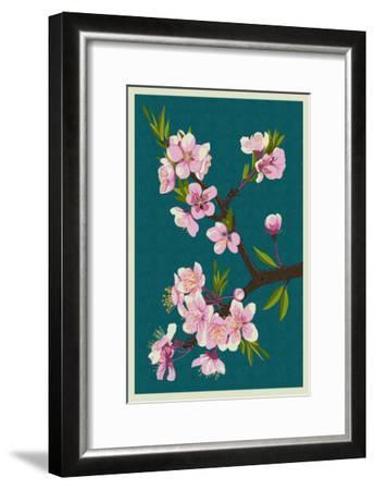 Cherry Blossoms-Lantern Press-Framed Art Print