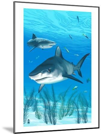 Tiger Shark-Lantern Press-Mounted Art Print
