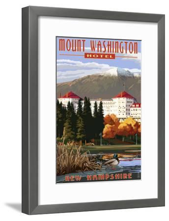 Mount Washington Hotel in Fall - Bretton Woods, New Hampshire-Lantern Press-Framed Art Print